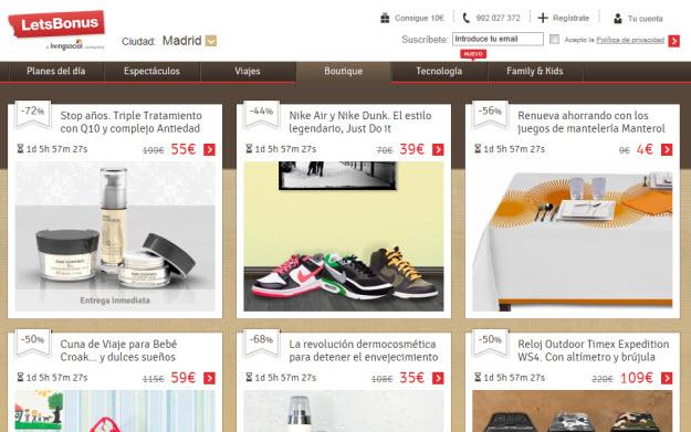 Productos exclusivos con descuento en Letsbonus