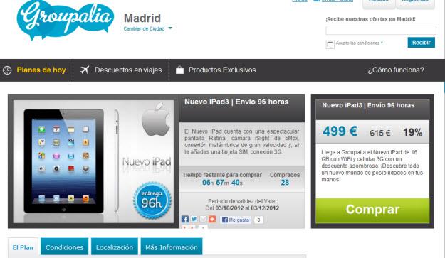 Comprar nuevo Ipad 3