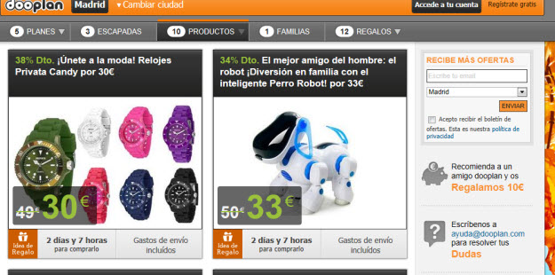 Productos outlet Dooplan