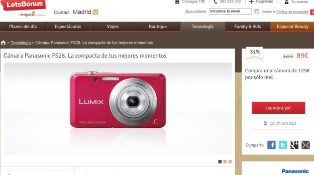 cámaras fotográficas outlet