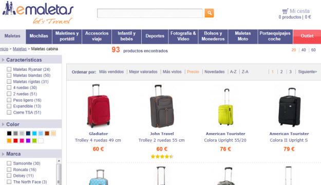 Comprar maletas en Emaletas