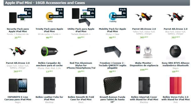 Accesorios baratos para iPad mini en Expansys