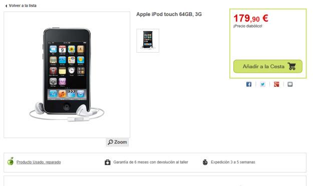 Ipod Touch outlet en Venta del Diablo