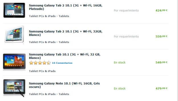 Variedades de Samsung Galaxy Tab outlet