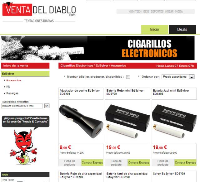 cigarrillos electrónicos outlet