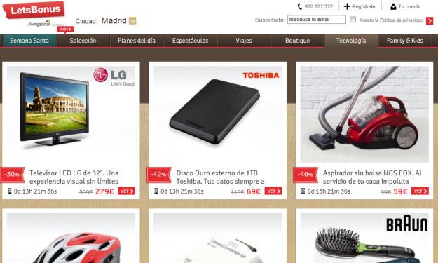 Ofertas de electrónica Letsbonus
