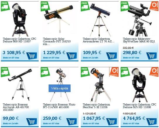 Telescopios astronómicos Zeiss