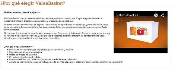 Value Basket opiniones