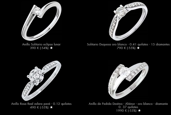 Anillos baratos diamantes