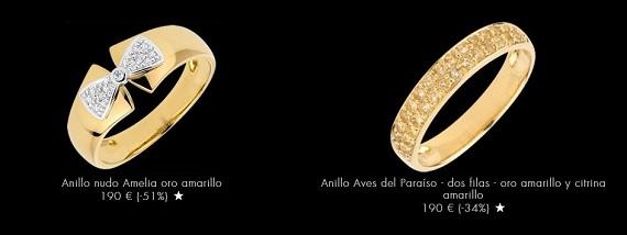 anillos baratos oro