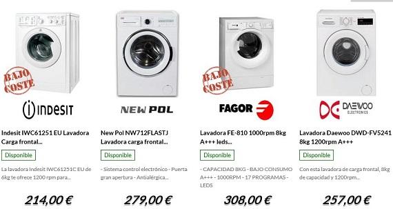 electrocosto lavadoras